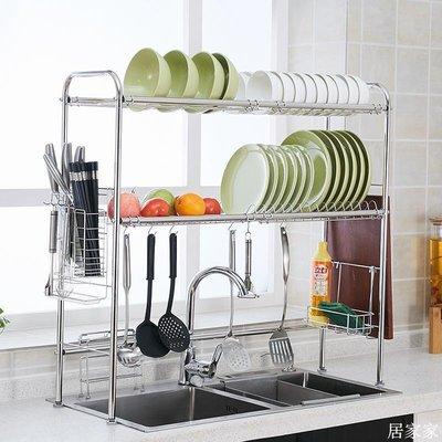 精選 廚房水槽置物架不銹鋼碗碟架籃碗筷收納濾水洗碗瀝水架水池置物架