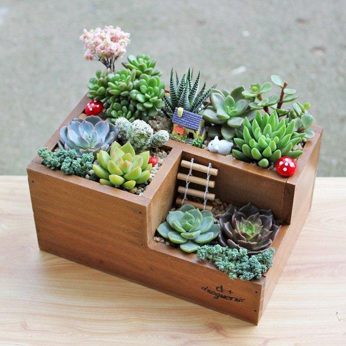 多功能園藝木盒收納盒☆ VITO zakka ☆桌面遙控器木盒收納