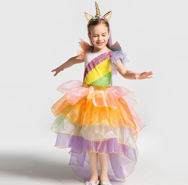 •*~ 辣媽咪衣飾小舖 ~*•❤童裝系列❤K170527世界派對萬聖節服裝.萬聖節裝扮.兒童變裝服-獨角獸