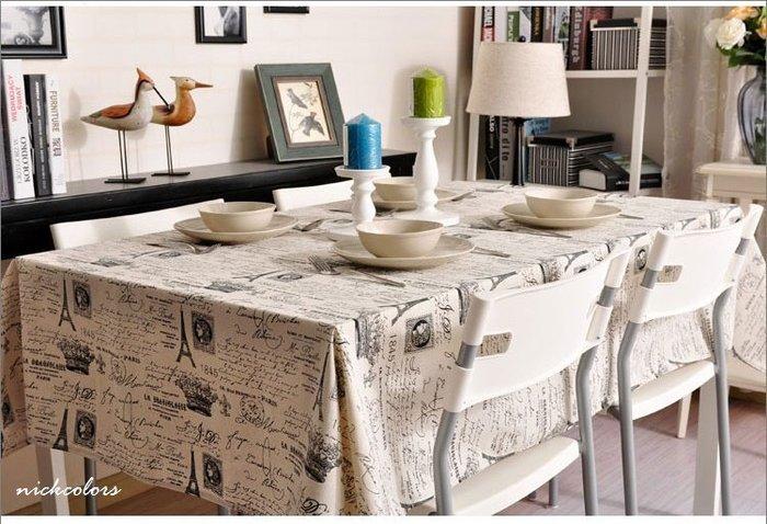 尼克卡樂斯~法國皇室款棉麻桌巾—loft 美式風桌巾 餐桌布 餐桌墊 茶几墊 茶几桌布 鄉村風 英倫風 北歐風 地中海風