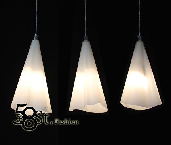 【58街】米蘭展設計新款「垂下的毛巾3燈吊燈、弔燈」美術燈。複刻版。GH-289