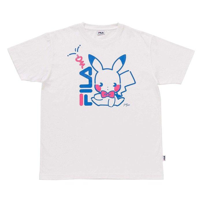 《FOS》2019新款 日本 寶可夢 FILA 聯名 短T 皮卡丘 短袖 夏天 男女 可愛 時尚 潮流 雜誌款 限量