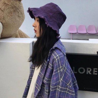 哆啦本鋪 漁夫帽夏日防曬男女可折疊純色盆帽潮帽子D655