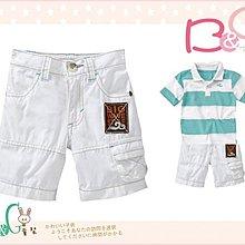 【B& G童裝】正品美國進口OLD NAVY Poplin Shorts 白色短褲2yrs