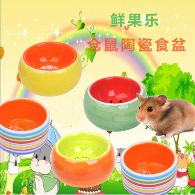倉鼠食盆水果色陶瓷碗 松鼠金絲熊食物碗寵物小碗飼料盆