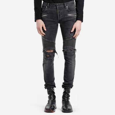 [全新真品代購-F/W19 新品!] BALMAIN 破壞 騎士 牛仔褲