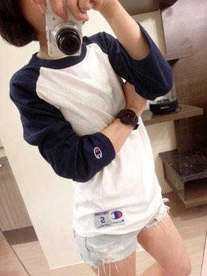 FOCA ☆ FOCA ☆ Champion 3/ 4 Raglan Baseball Tee 七分袖 棒球 深藍 棒球t 台北市