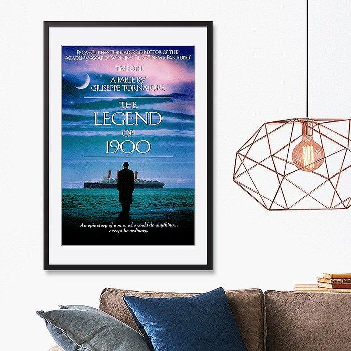 INHUASO 癮|画|所 The Legend of 1900海上鋼琴師經典電影海報掛畫義大利藝術電影裝飾畫版畫收藏畫
