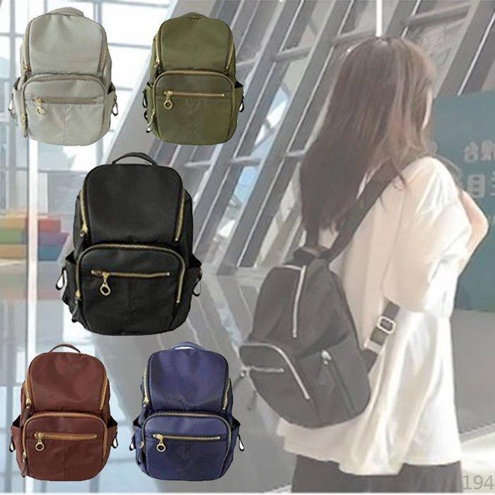 【免運】日韓連線 拉鍊後背包 防水後背包 後背包 書包 媽媽包 肩背包 電腦包 包包 女包 尼龍後背包 女生包包 背包
