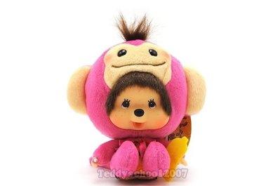☆╮泰迪學園╭☆日本Sekiguchi超人氣夢奇奇MONCHHICHI【可愛粉紅猴】