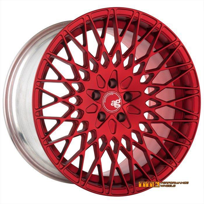 【小茵輪胎舘】ag新款 M540 18吋 5孔112/114.3 8J+9J 炫亮紅 (配胎套餐大折扣) 顏色可客製