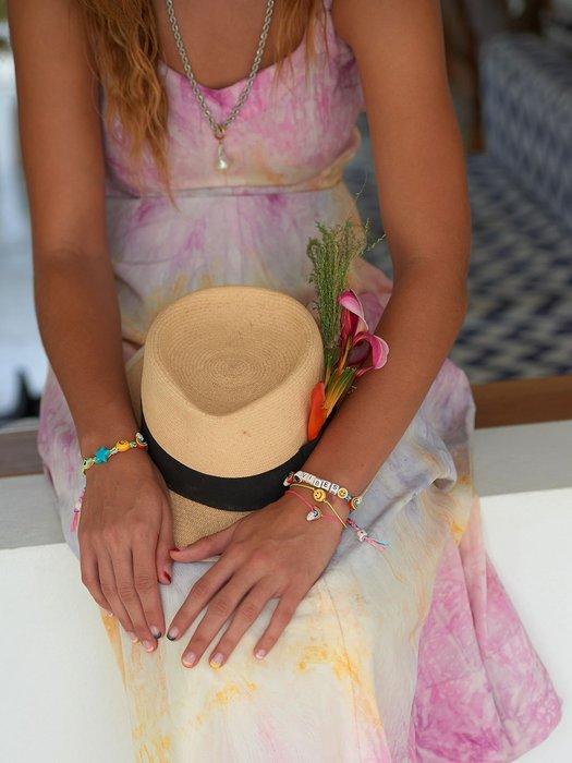 Venessa Arizaga VIBES BRACELET SILVER RAINBOW 彩虹笑臉手鍊 正面能量