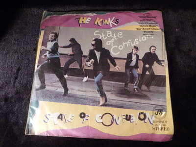 古玩軒~(LP黑膠唱片)12寸西洋黑膠  THE Kinks STATE OF CONFUSION~HBO332