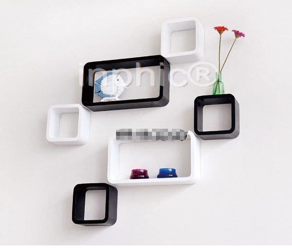 INPHIC-六件套 創意家居擱板 牆壁架 置物架 展示架 創意家居牆架書架