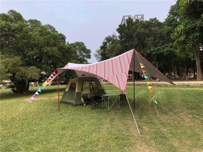 多人沙灘帳8*5米遮陽棚戶外涼棚雨篷防曬防雨天幕帳篷jy