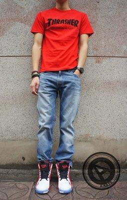 【A-KAY0】LEVIS LVC【67505-0075】SPLINTERED 赤耳布邊 刷紋 直筒牛仔褲 水洗淺藍