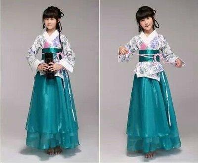 天使佳人婚紗禮服~~~~~兒童古風襦裙古箏服漢服演出服