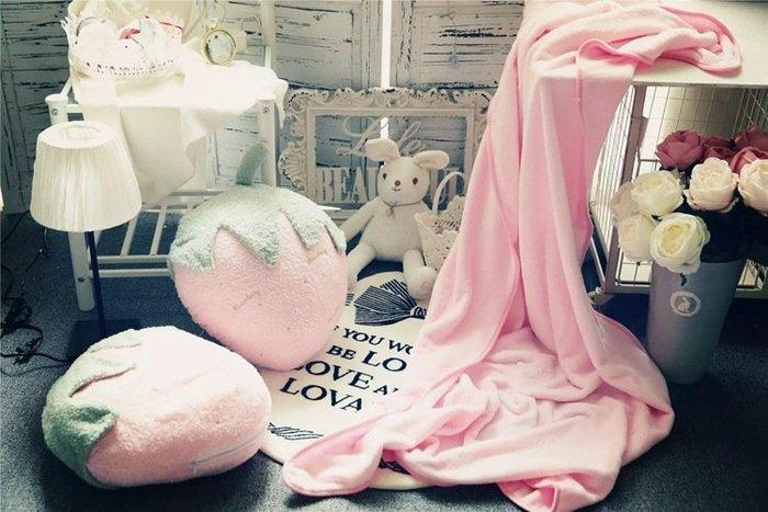 ☆║♥愷心小舖♥║☆日單 軟綿綿 草莓 菠蘿 仙人掌 冰淇淋  內附毯子 兩用抱枕  居家擺設 gelato pique
