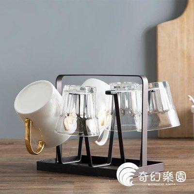[免運]杯架-居家家鐵藝杯子收納架杯子架家用玻璃杯置物架水杯掛架杯架瀝水架—印象良品