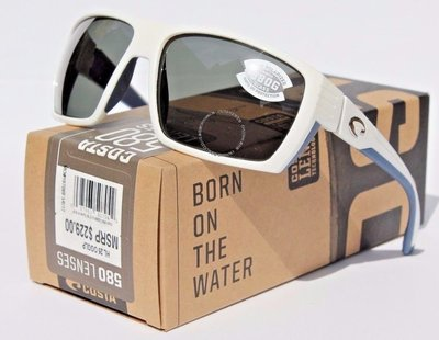 COSTA DEL MAR Hamlin 580 POLARIZED太陽眼鏡白色/灰色580G NEW  229