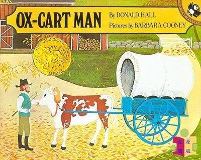 [文閲原版]凱迪克:趕牛車的人 進口英文原版繪本 Ox-Cart Man 凱迪克金獎繪本 充滿詩意的繪本 展現新英格蘭居民的田園生活 四季更迭
