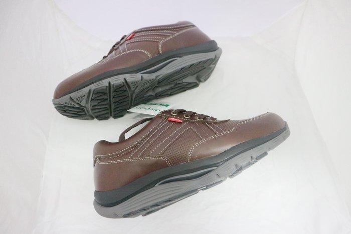 ☆地之柏- R406台灣製造  真皮氣墊 美姿健走鞋 機能健美休閒運動鞋 (另有黑)  咖 男款 39~44號