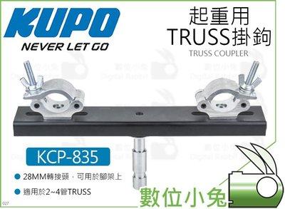 數位小兔【KUPO KCP-835 起重用TRUSS掛鉤】28MM轉接頭 管夾 桿夾 快扣掛勾 管徑48-51mm 桁架