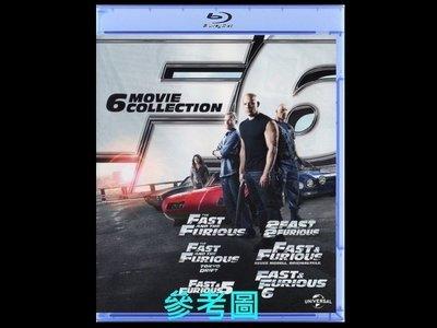 【BD藍光】玩命關頭1~5集限量典藏版The Fast and the Furious(台灣繁中字幕)