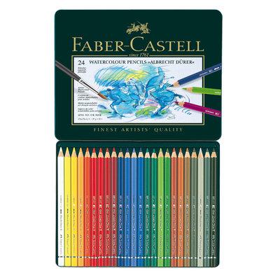 【紙百科】Faber-Castell 藝術家級水性色鉛筆 24色 (綠鐵盒)