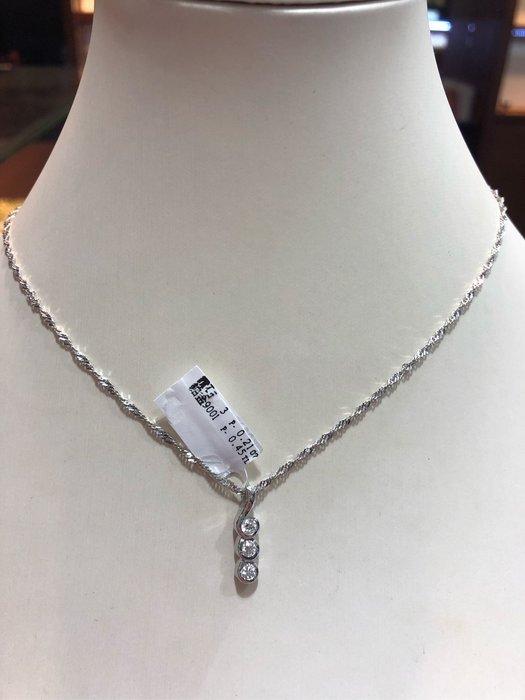 21分天然鑽石鉑金項鍊,搭配Pt900手工製作墜台,新品上市鑑賞價16800,每顆鑽石都是高等級白鑽八心八箭完美車工,閃亮耀眼