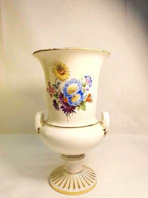 { Ruminant 慕名古物 } 德國麥森Meissen手繪五色菊描金兩截式花器