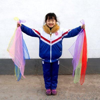 熱賣新品#音樂教具紗巾紗巾音樂紗巾跳舞兒童絲巾幼兒園小方巾#規格不同價格要改 滿200元起購