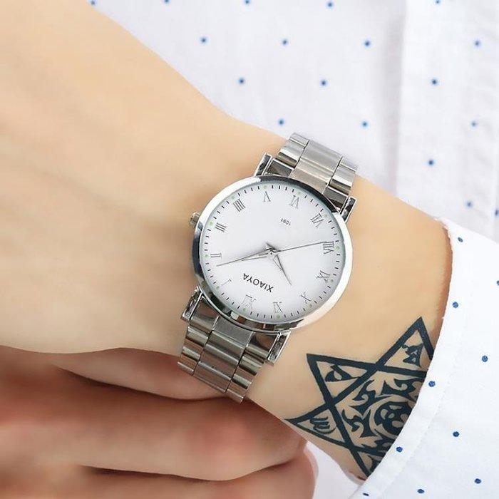 手錶男士非機械運動石英學生防水時尚潮流夜光鋼帶男錶腕