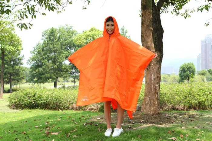 三合一多功能背包雨衣雨披登山雨衣可做防潮墊地布 天幕帳篷 騎行雨衣 機車雨衣