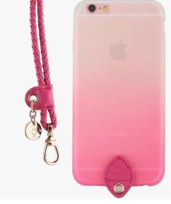 iphone7plus手機殼挂繩5.5寸蘋果7S 4.7寸情侶手機套挂脖矽膠防摔