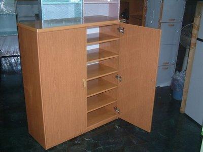 【塑鋼舒美櫥櫃設計~訂做】~不怕水.不脫皮~黃木紋色~塑鋼舒美鞋櫃~