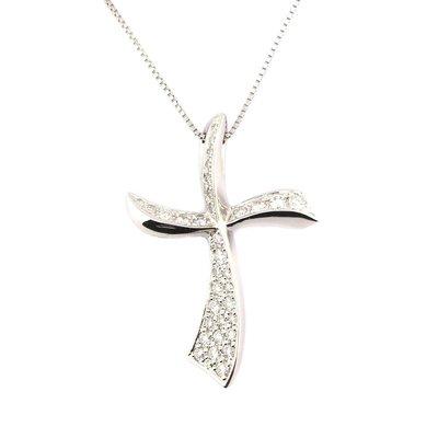 【JHT金宏總珠寶/GIA鑽石專賣】十字架造型鑽石項鍊/材質:PT900/850(JB46-A26)