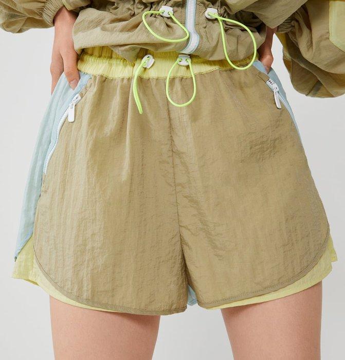 SeyeS 歐美輸入 七折 代購 : 雜誌英倫街頭個性拚色滾邊運動抽繩短褲