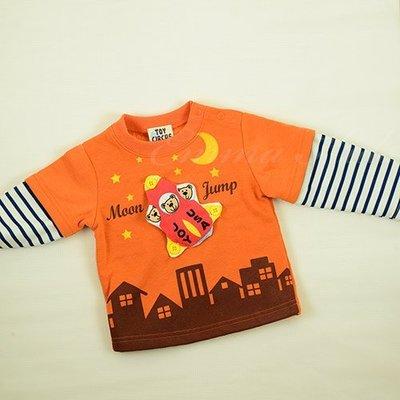 零碼出清 小熊刷毛長袖上衣 棉T 日本童裝 柔軟刷毛 輕巧保暖#90日本空運~小太陽日本精品