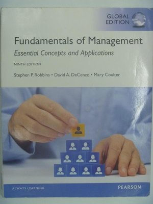 【月界2】Fundamentals of Management-9E_Stephen Robbins 〖大學商學〗AGG