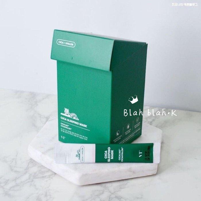 韓國 VT CICA 積雪草 綠水鬼 晚安面膜 睡眠面膜  一盒30包 韓國正品代購