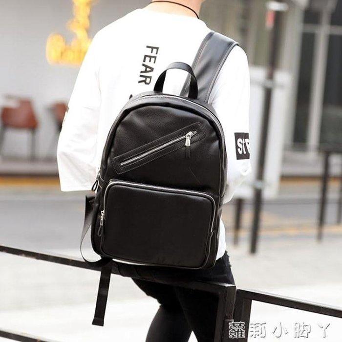 後背包潮流英倫皮質雙肩背包 休閒學生書包電腦包 時尚街頭男背包包 「新時代家居」