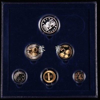 【鑒 寶】(世界各國錢幣)芬蘭千禧年2000年原裝關門幣帶雙金屬6枚套帶枚銀章 精製 原盒證 XWW1443