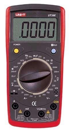 TECPEL 泰菱 》UNI-T 優利德 UT39E 三用電表+19999位數+頻率 電阻 電容 UT-39E