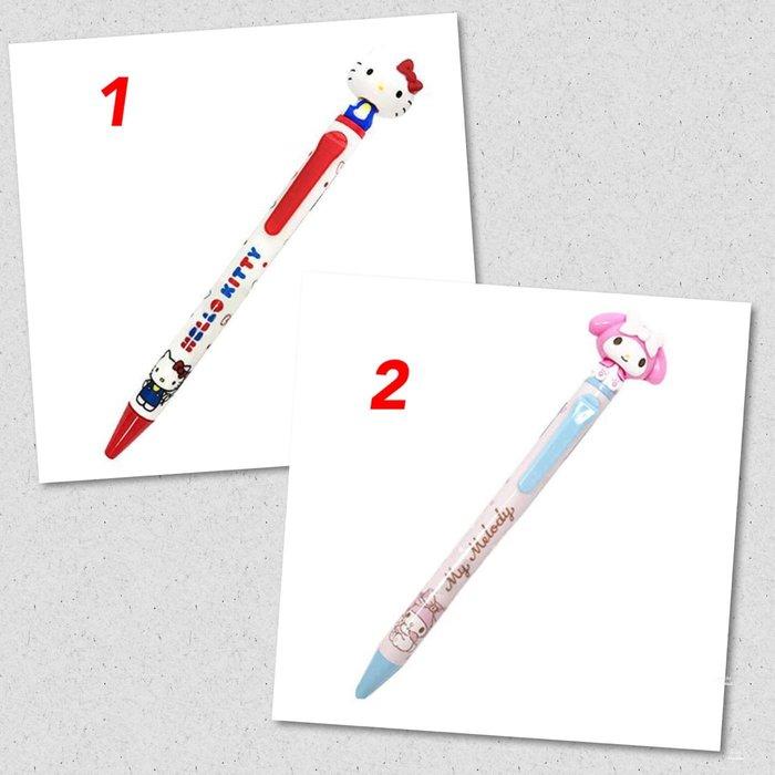日本正版進口 三麗鷗 Hello Kitty 丶美樂蒂搖搖頭造型 日製原子筆《紅白.蝴蝶結.黑色筆芯.190》單賣