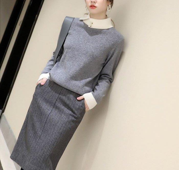 【艾蜜麗】北歐風~別緻撞色小翻領柔軟羊毛衫(3色)1143 1129 1138