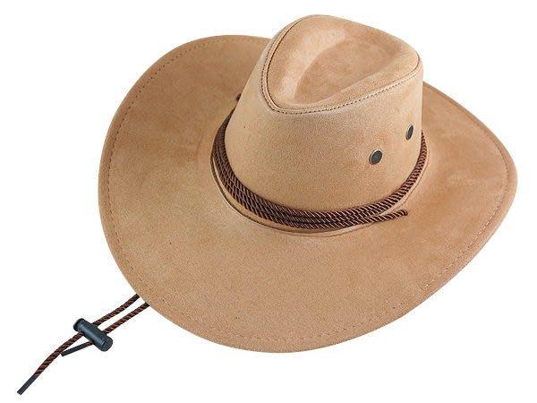 【二鹿帽飾】雞皮 皮繩滾邊 高質感牛仔帽/ 西部帽/ 狩獵帽/表演帽/國小以上表演專用帽