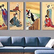 日本仕女圖美人圖壁畫料理店酒店裝飾畫浮世繪藝妓無框畫掛畫(多款可選)