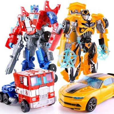 積木城堡 迷你廚房 早教益智變形玩具金剛5大黃蜂汽車機器人手動警車男孩兒童模型恐龍正版4小
