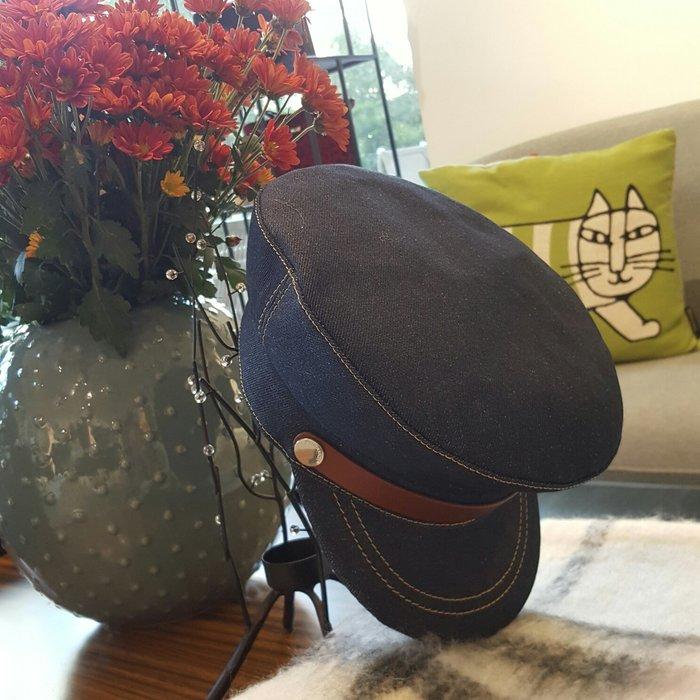 [ RainDaniel ] J.W ANDERSON 英國時尚品牌  牛仔/皮革邊飾 報童造型帽